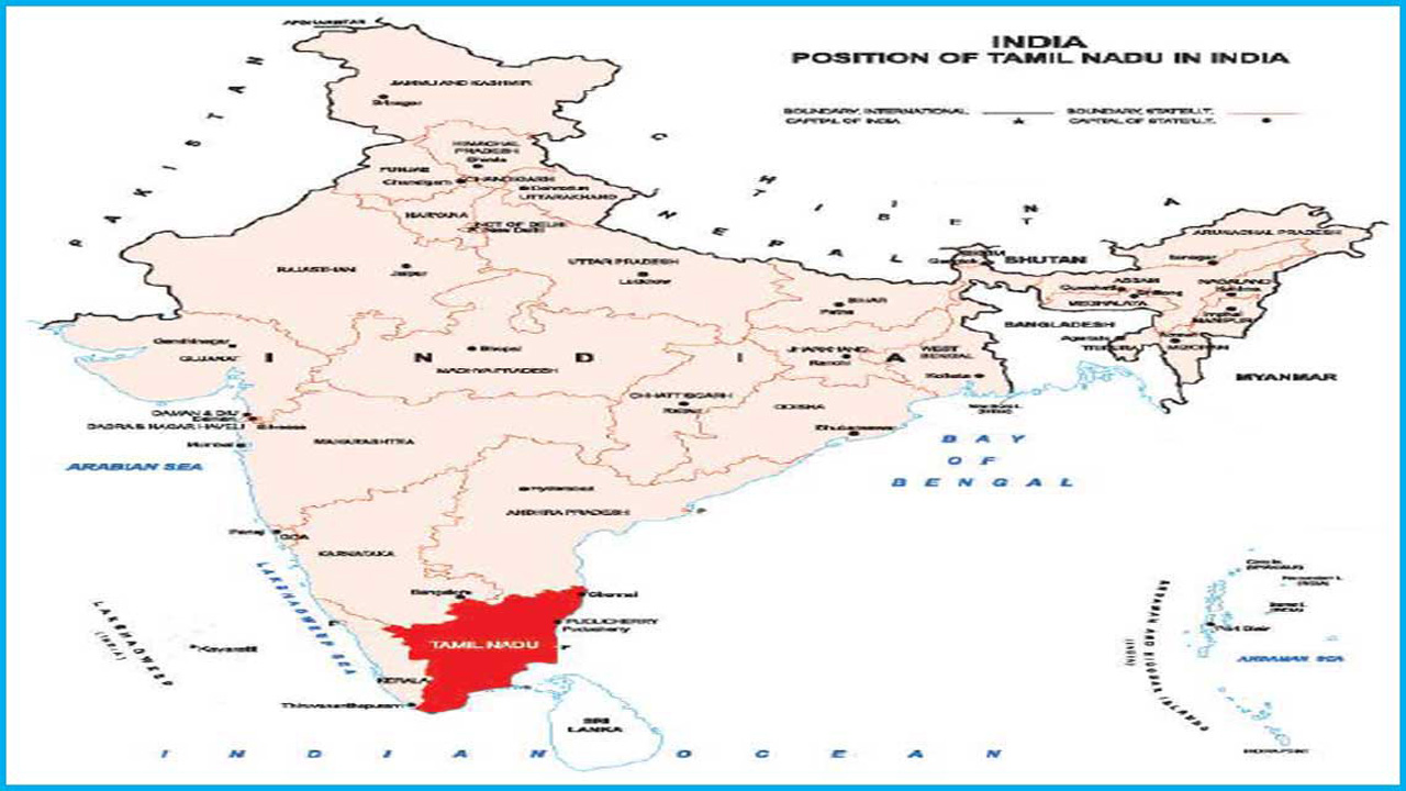 Districts, Tahsil/Mandal and Villages in Tamil Nadu